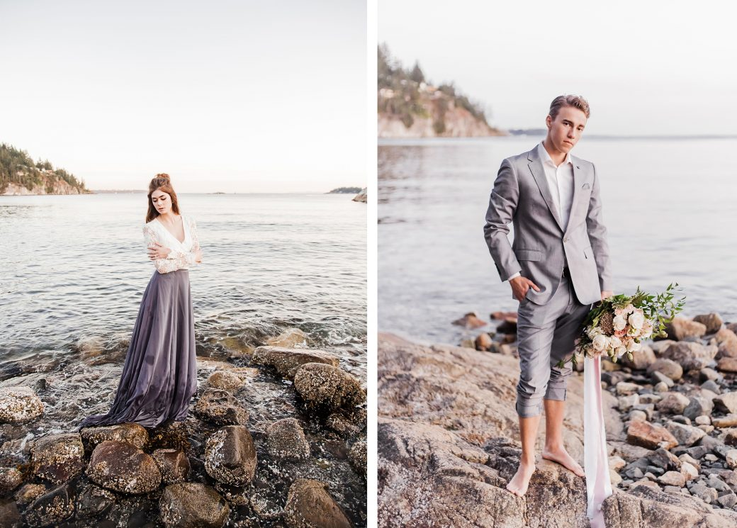 Couple | Ethereal Bridal Shoot Inspired by Light & Water