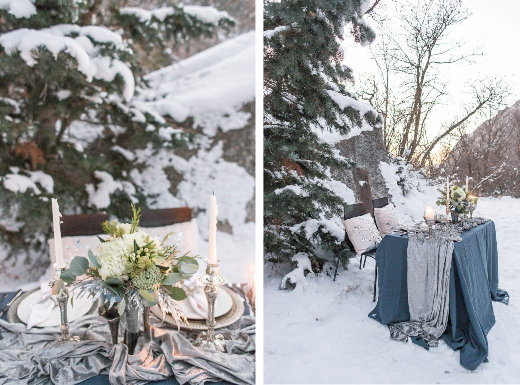 Winter Wedding Bridal Style at Snowbird, Utah