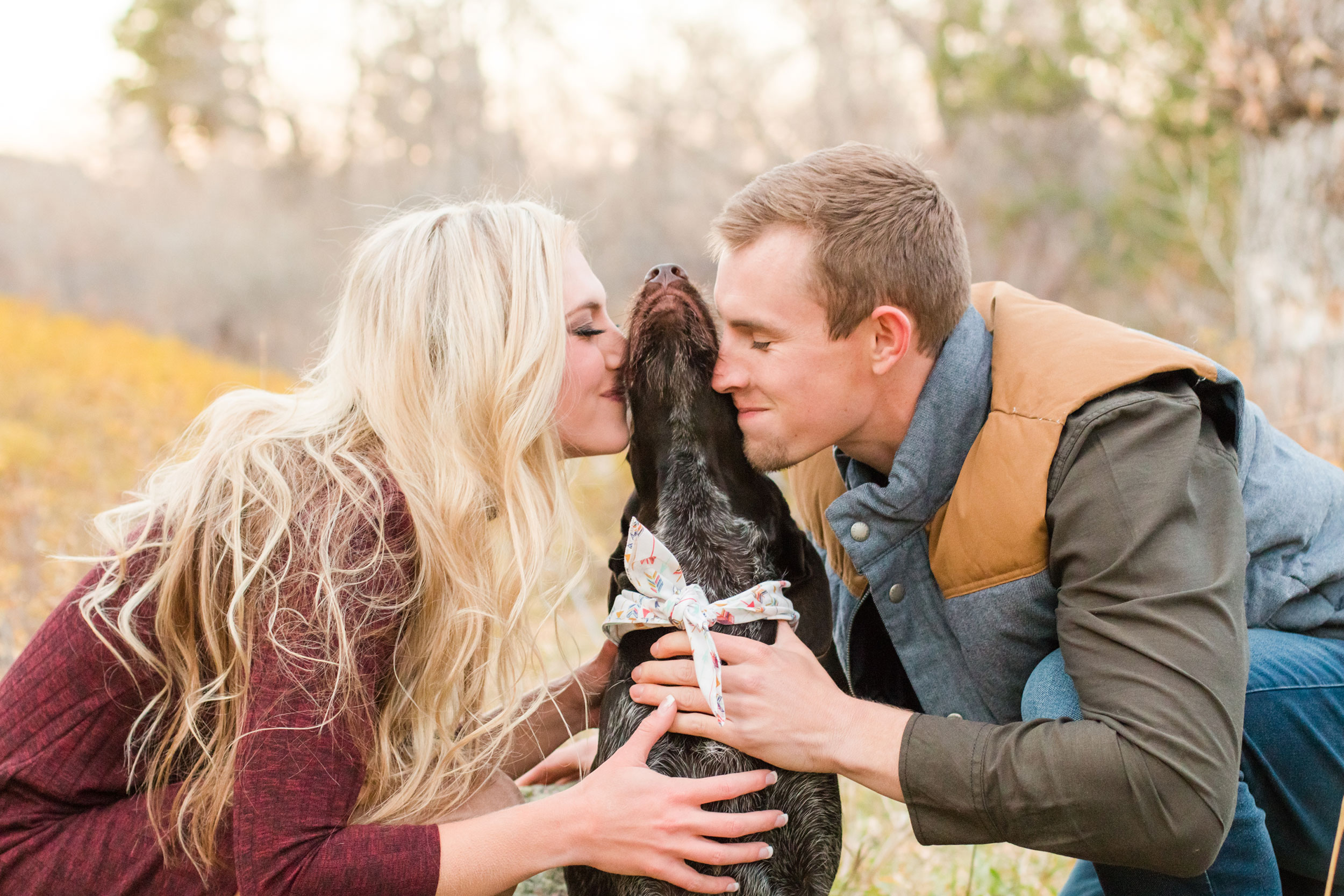 Fall Engagement shoot with the family dog