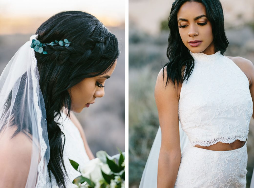 Bride | Red Mountain Sandstone Styled Utah Elopement