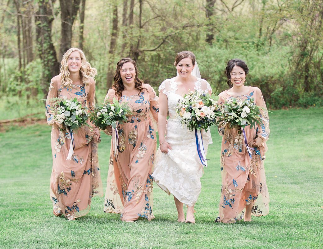 Bridesmaids | A Sophisticated Bluegrass & Craft Beer Mountain Wedding in Asheville, North Carolina