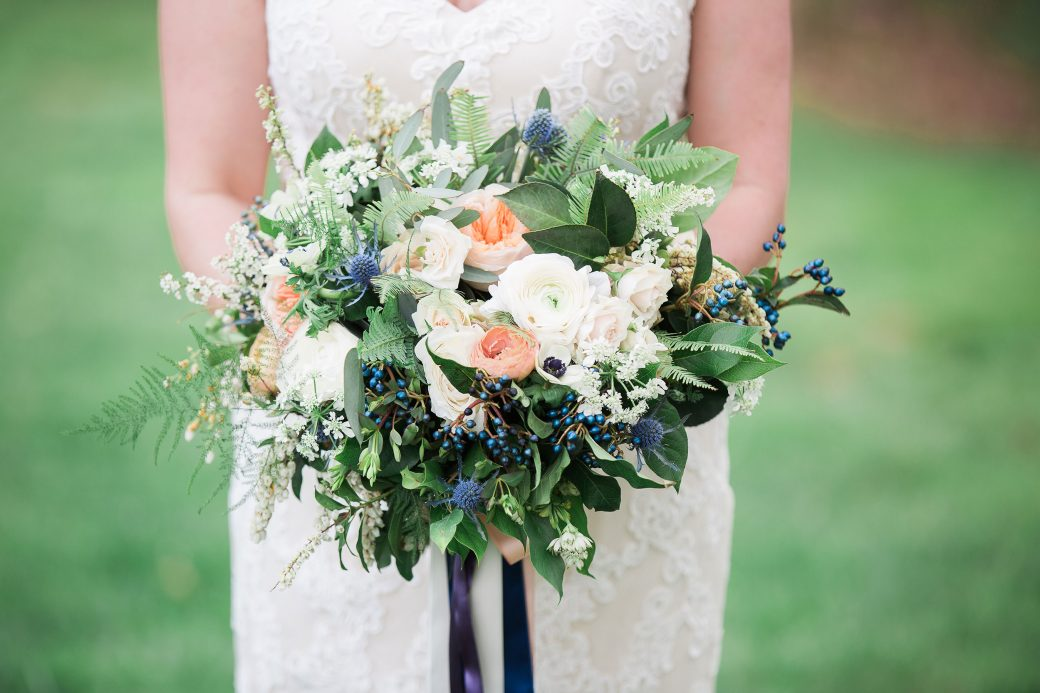 Flower bouquet A Sophisticated Bluegrass & Craft Beer Mountain Wedding in Asheville, North Carolina