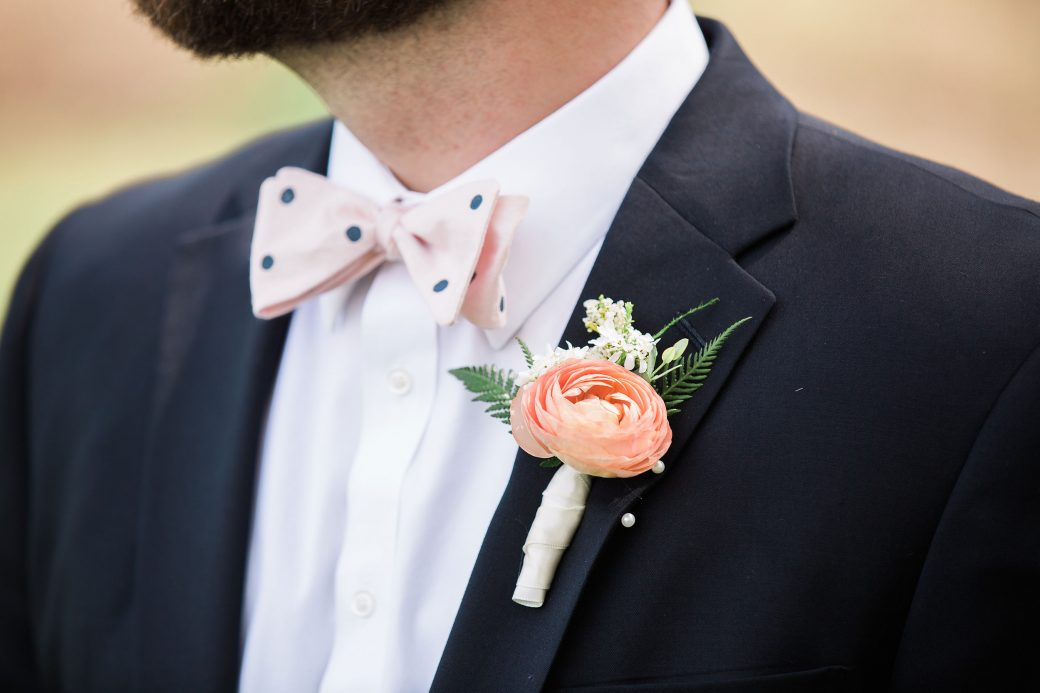 Groom style | Flower bouquet A Sophisticated Bluegrass & Craft Beer Mountain Wedding in Asheville, North Carolina