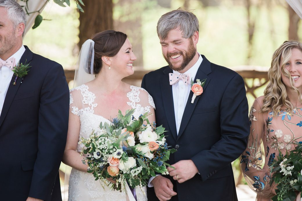 Ceremony | Sophisticated Bluegrass & Craft Beer Mountain Wedding in Asheville, North Carolina