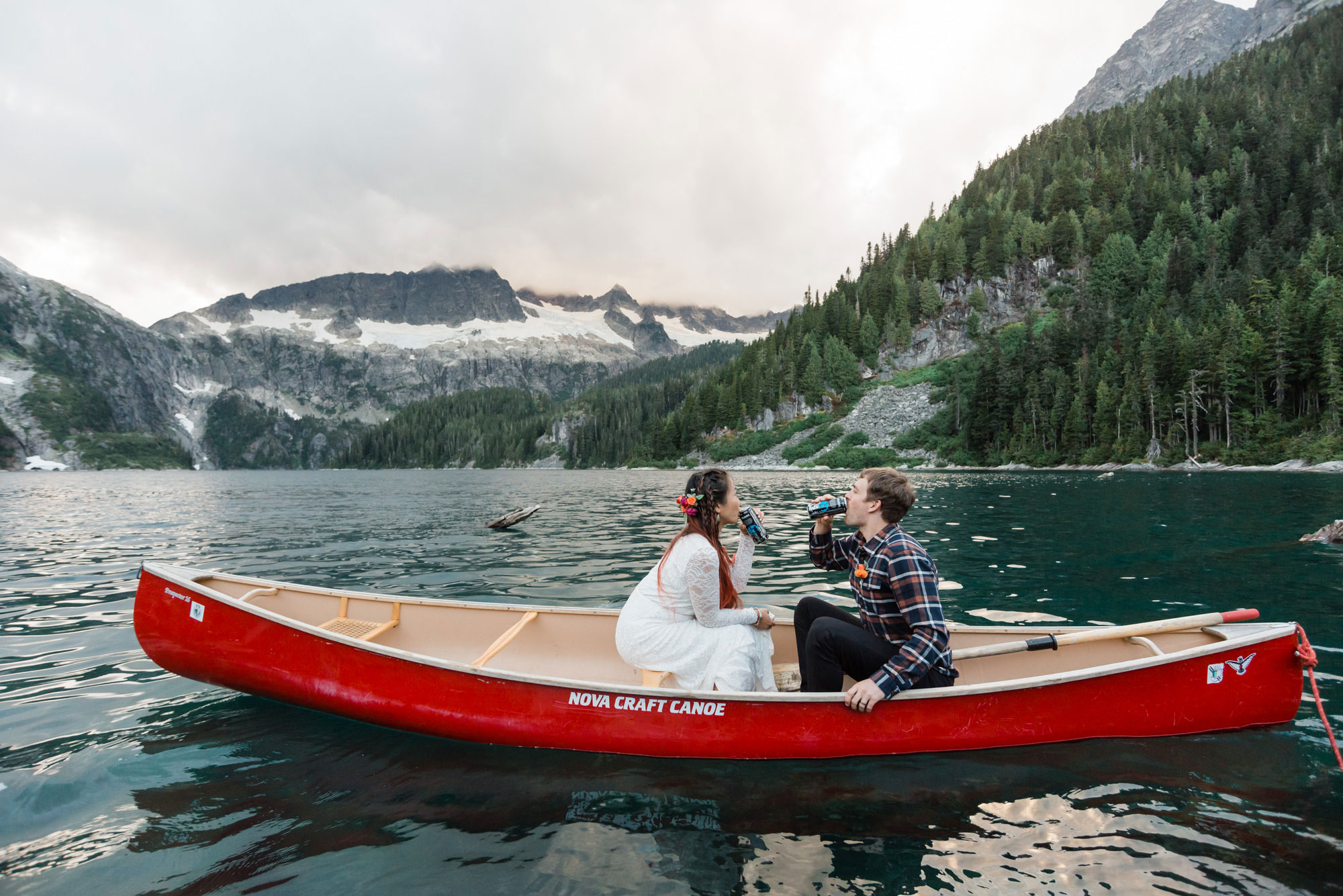 Canoe Elopement at Lake Lovely Water | Luxe Mountain Weddings