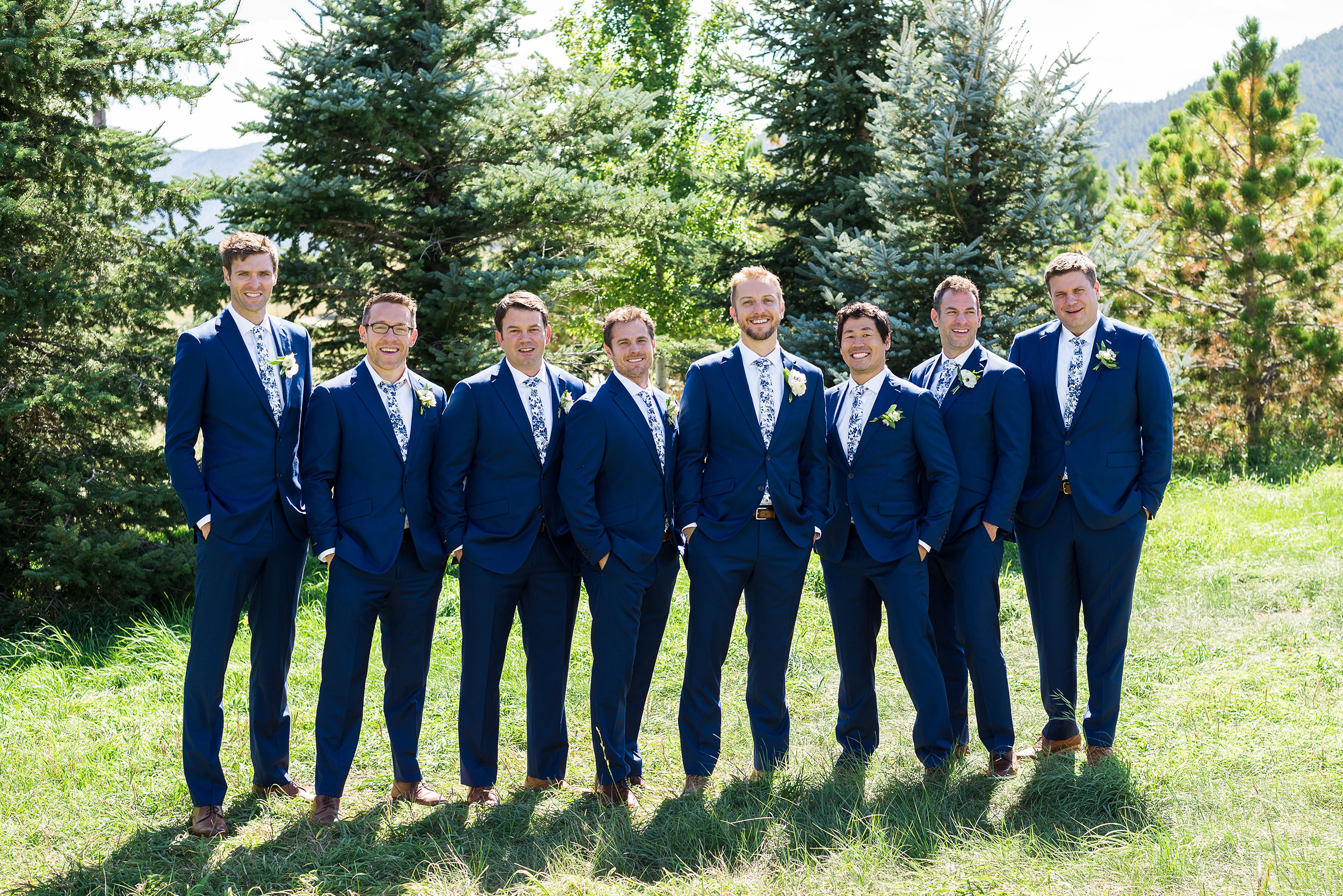 Groomsmen | Colorado Destination Wedding | Luxe Mountain Weddings