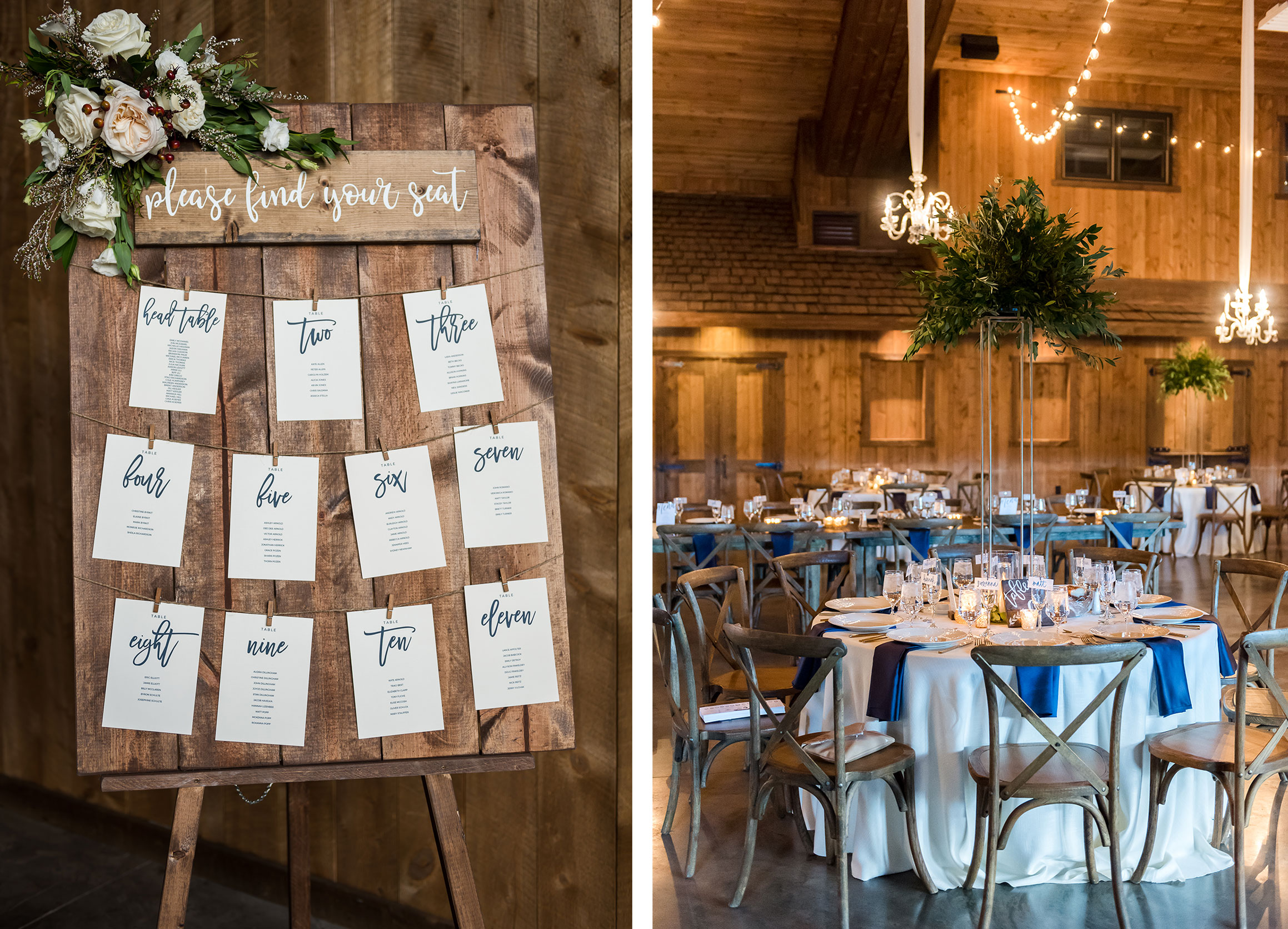 Seating chart + reception decor | Luxe Mountain Weddings Colorado