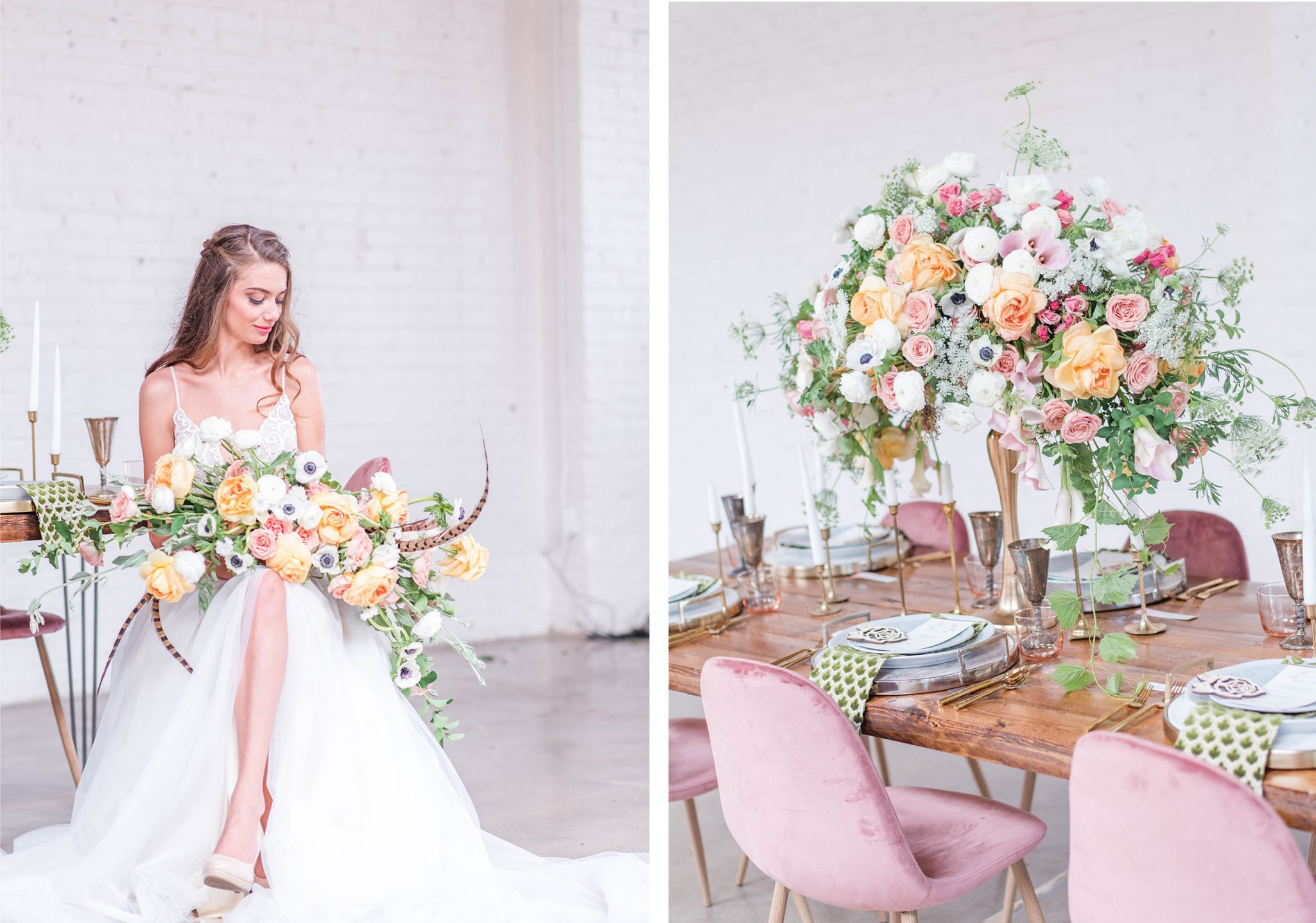 Wedding Florals | A Pretty Bridal Editorial, Denver Colorado