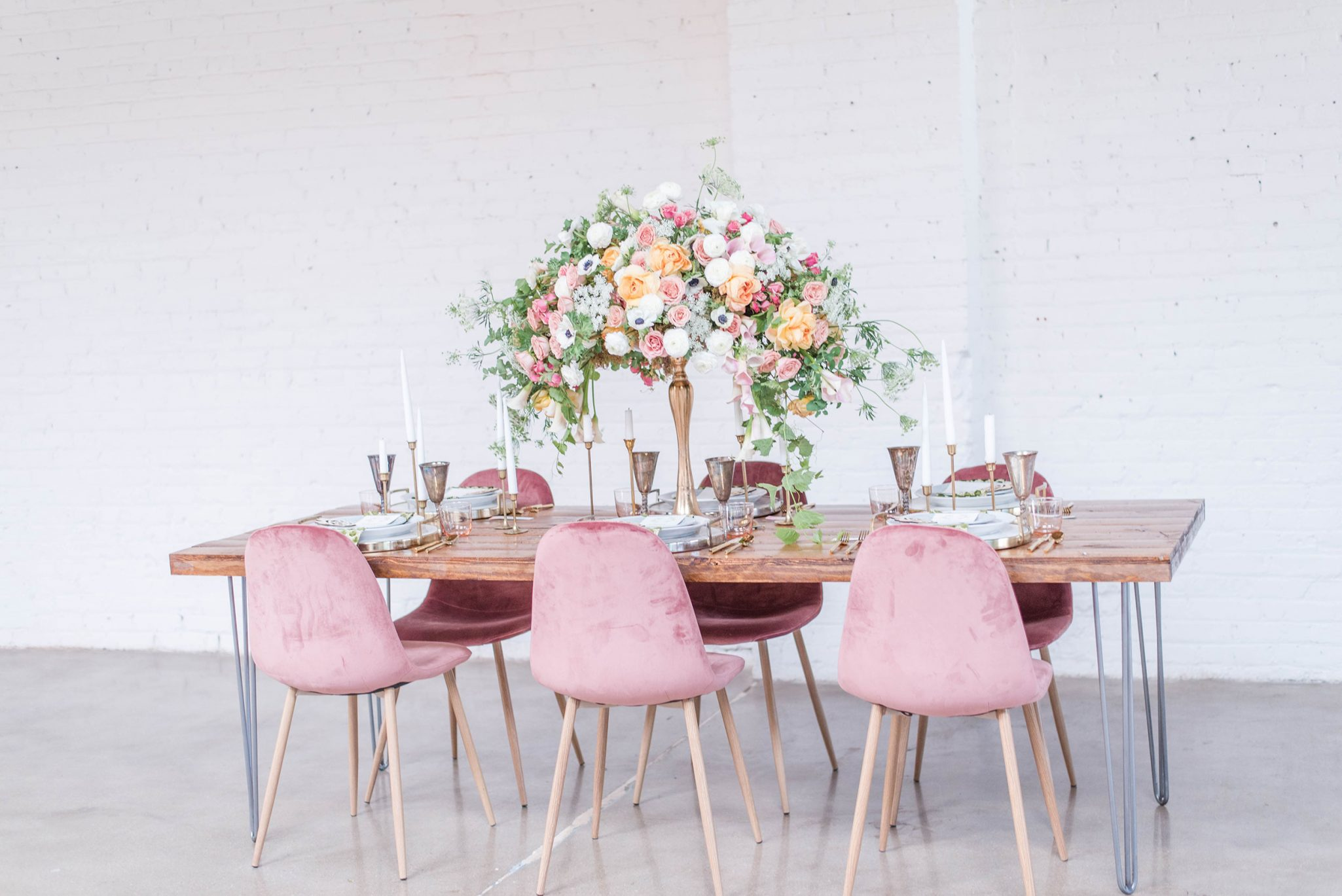Reception Tablescape | A Pretty Bridal Editorial, Denver Colorado