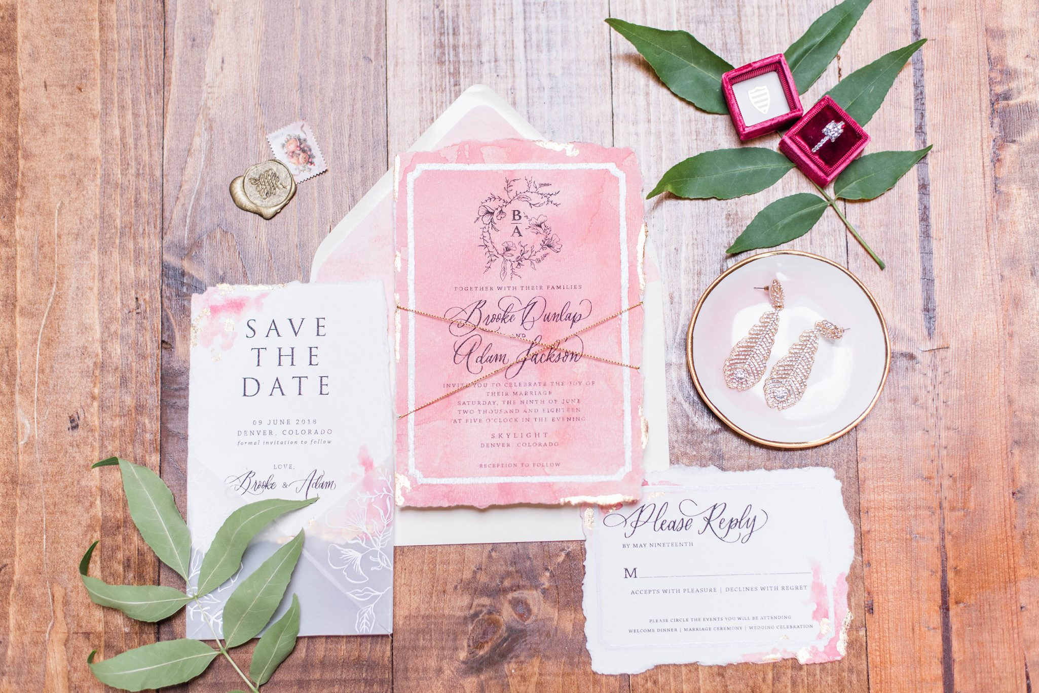 Stationery suite | A Pretty Bridal Editorial, Denver Colorado