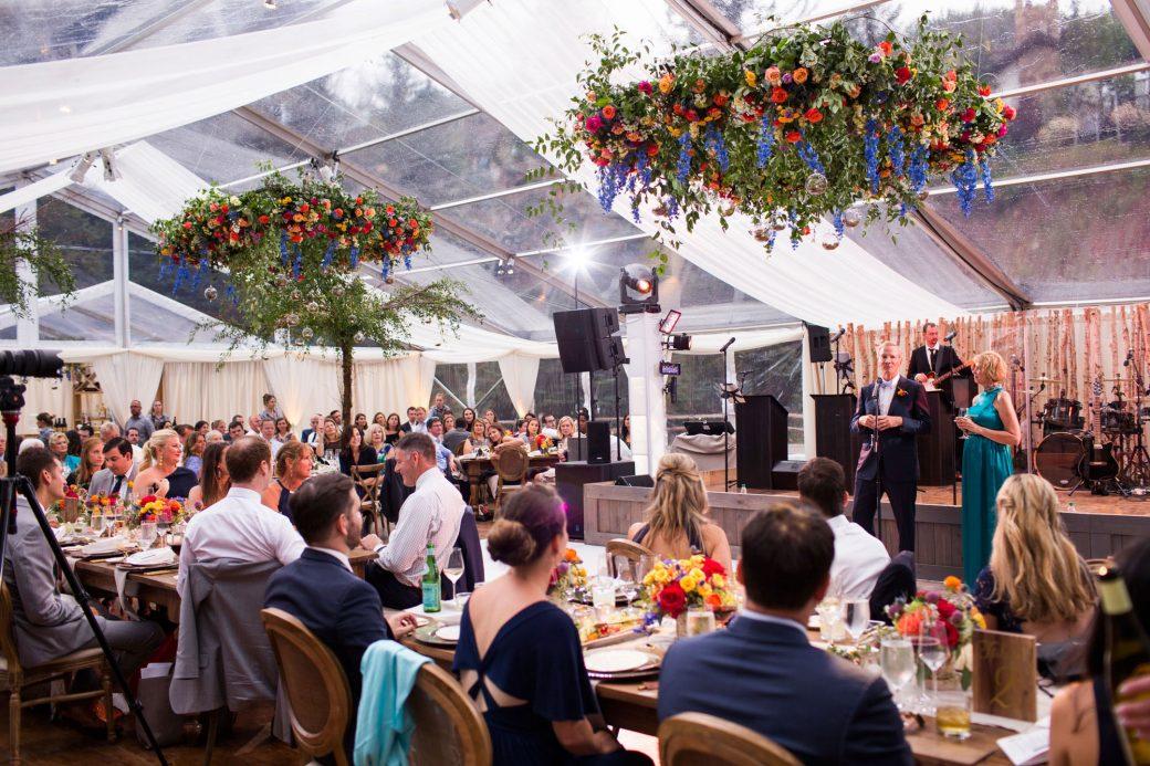 Luxe tent reception in Vail, Colorado   Luxe Mountain Weddings