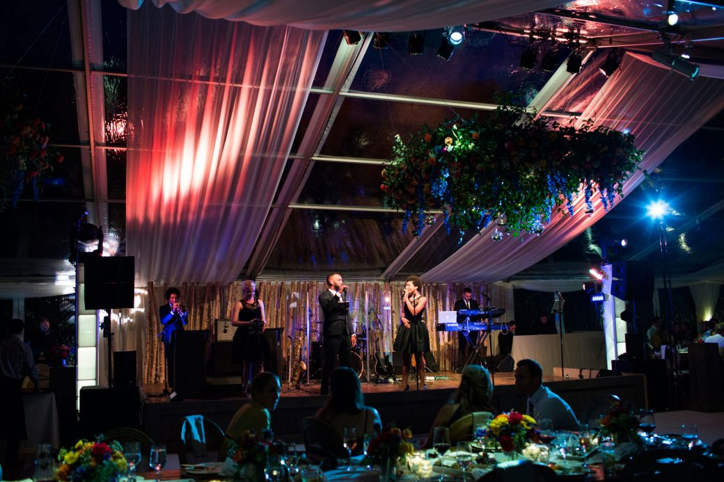 Luxe tent reception in Vail, Colorado | Luxe Mountain Weddings