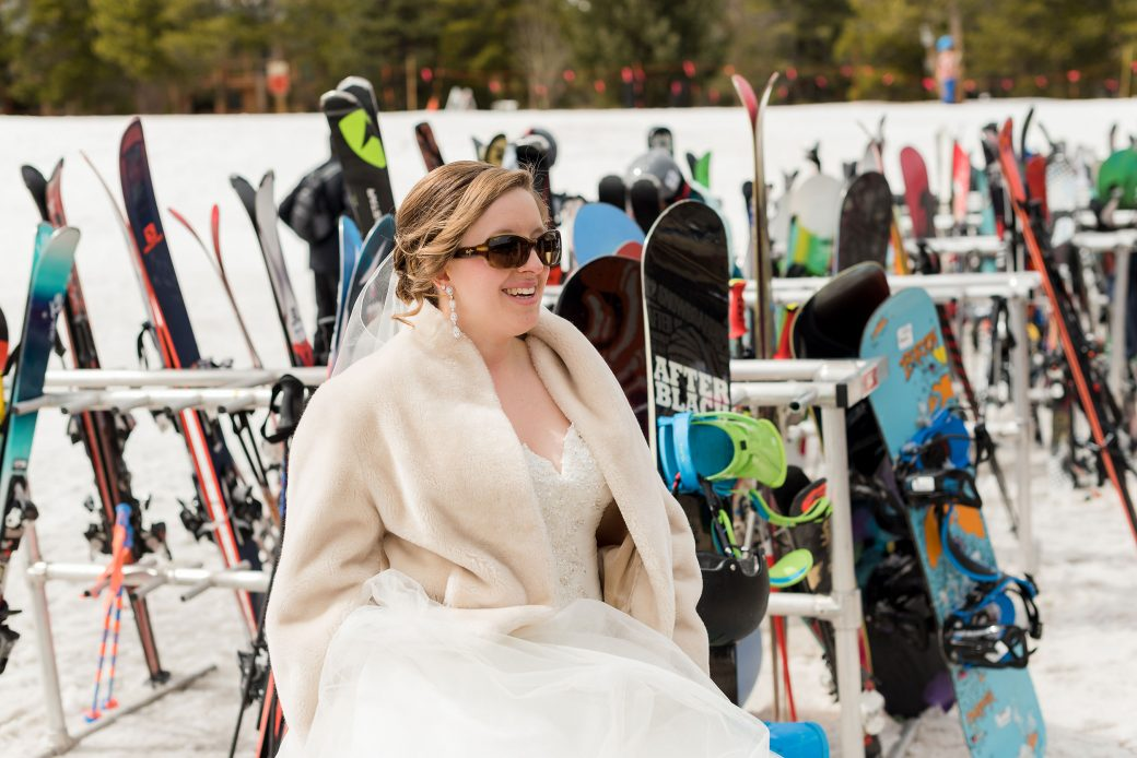 Bride at Breckenridge Ski Resort