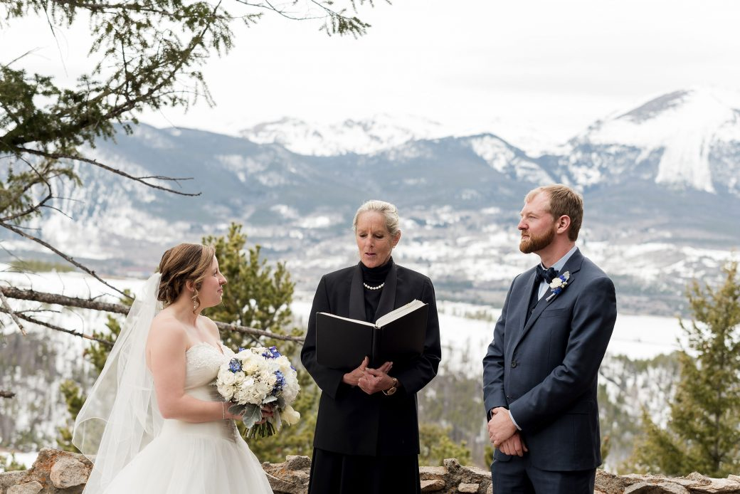 Elopement ceremony at Sapphire Point Breckenridge, Colorado
