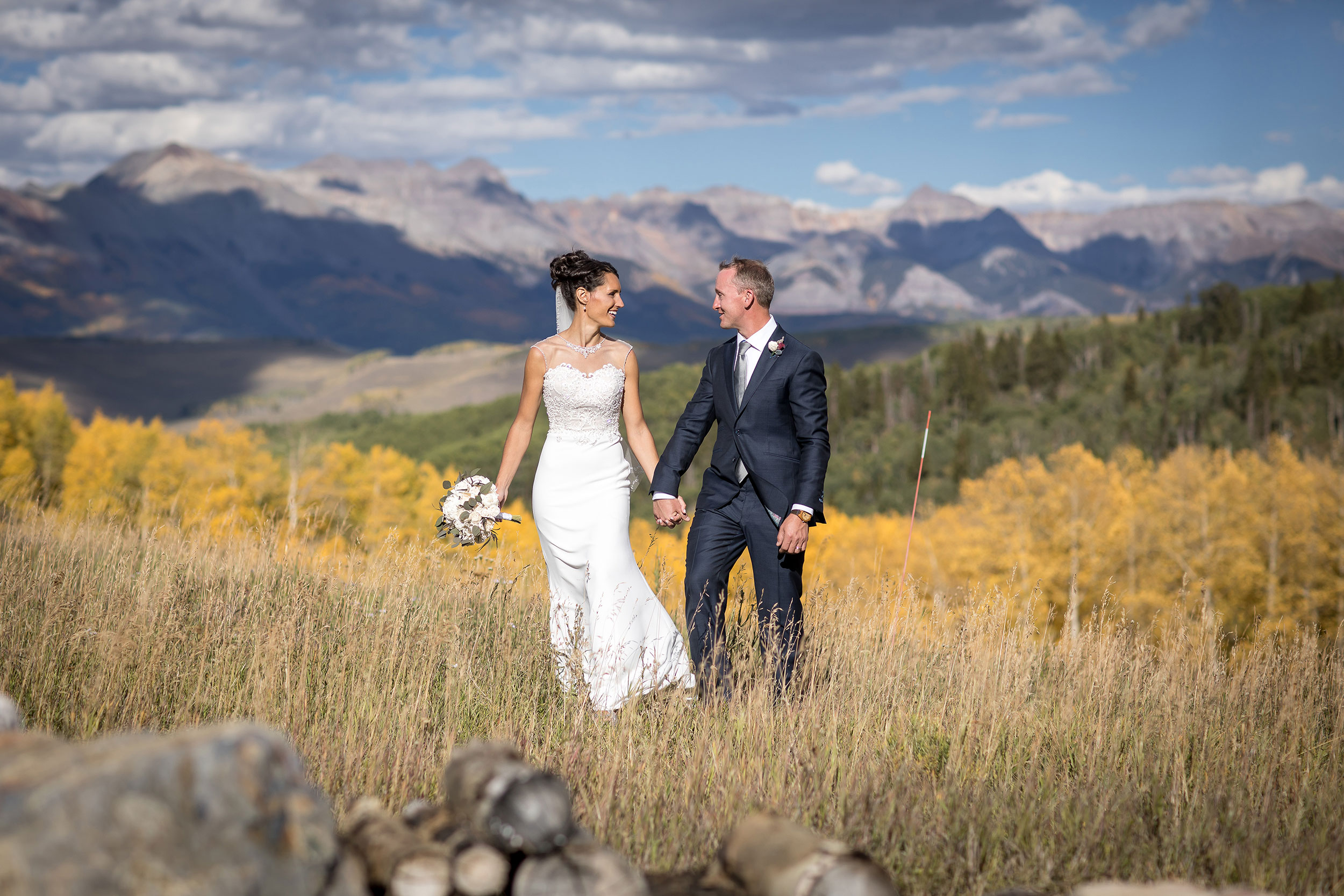 Fall ranch glamping wedding in Telluride, Colorado