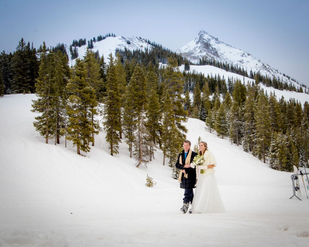 Walking down the aisle | Crested Butte Ski Resort Wedding