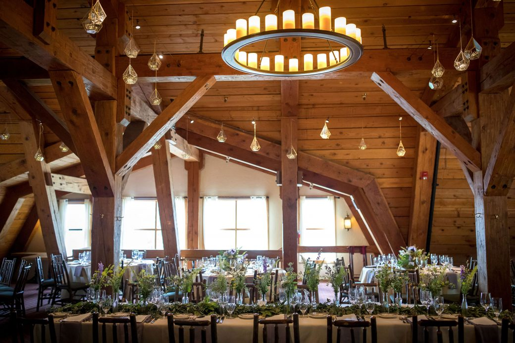 Wedding Reception inside Gorrono Ranch, Telluride, Colorado