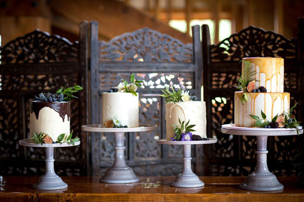 Cake display by Fig & Bloom cakes, Telluride CO
