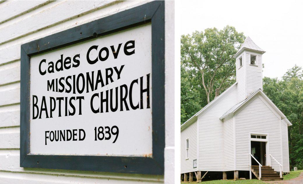 Cades Cove Church Wedding in Tennessee
