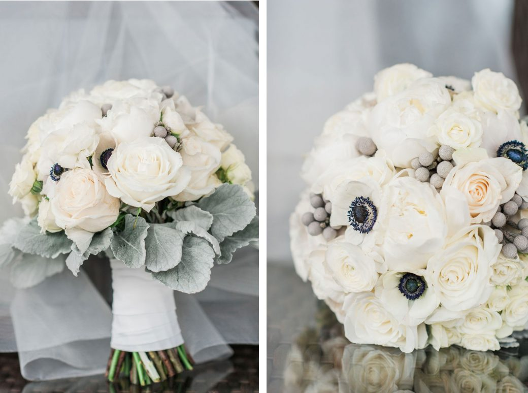 White bouquet | New Years Eve Wedding in Vermont