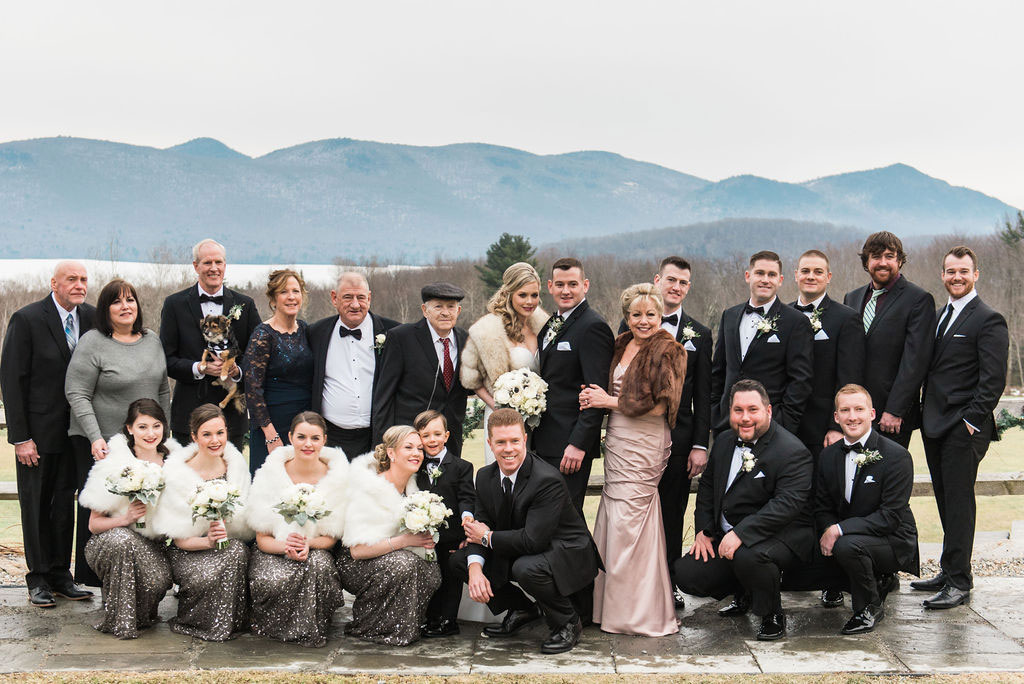 Wedding party | New Years Eve Wedding in Vermont