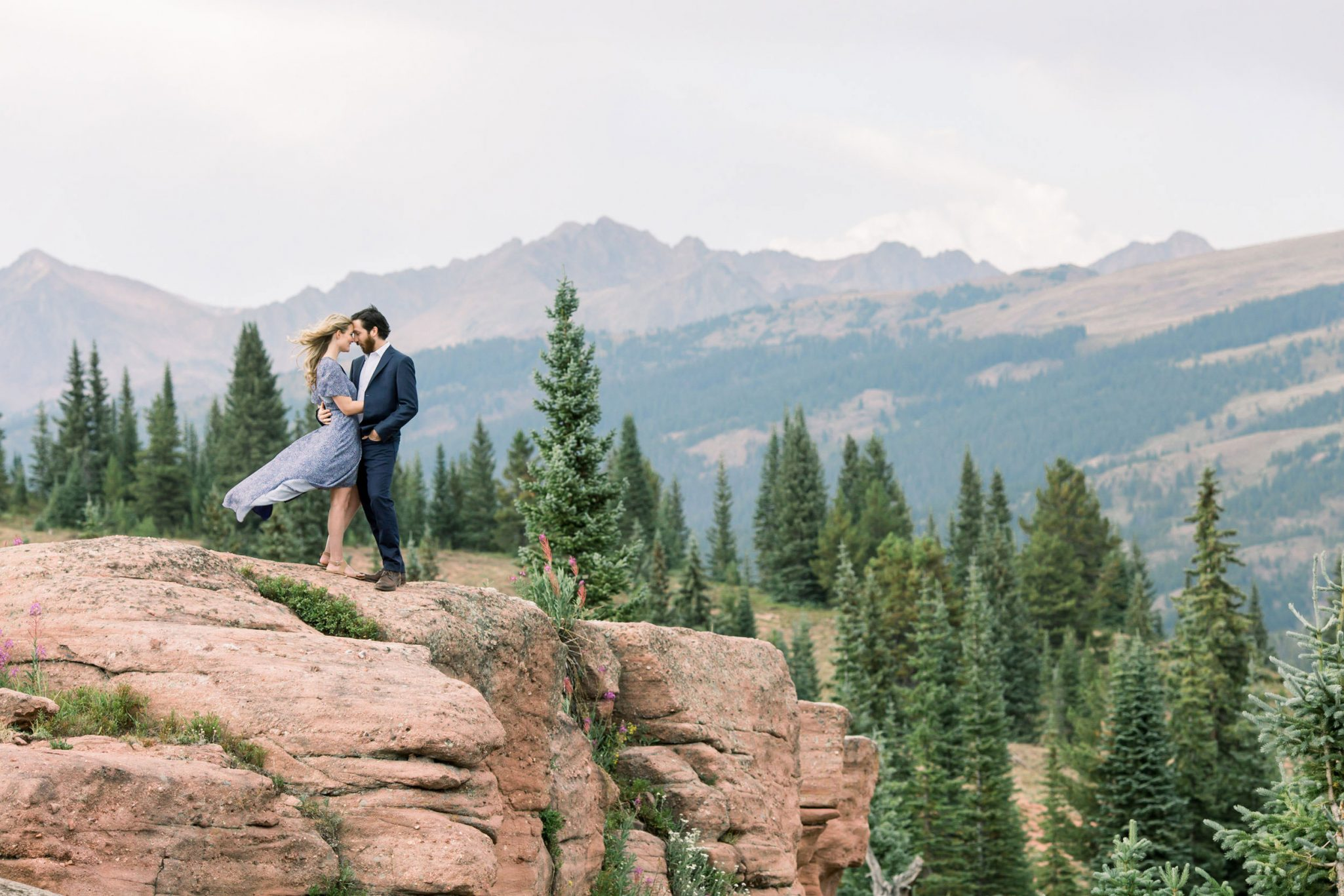 Engagement photos on Shrine Mountain, Vail, Colorado