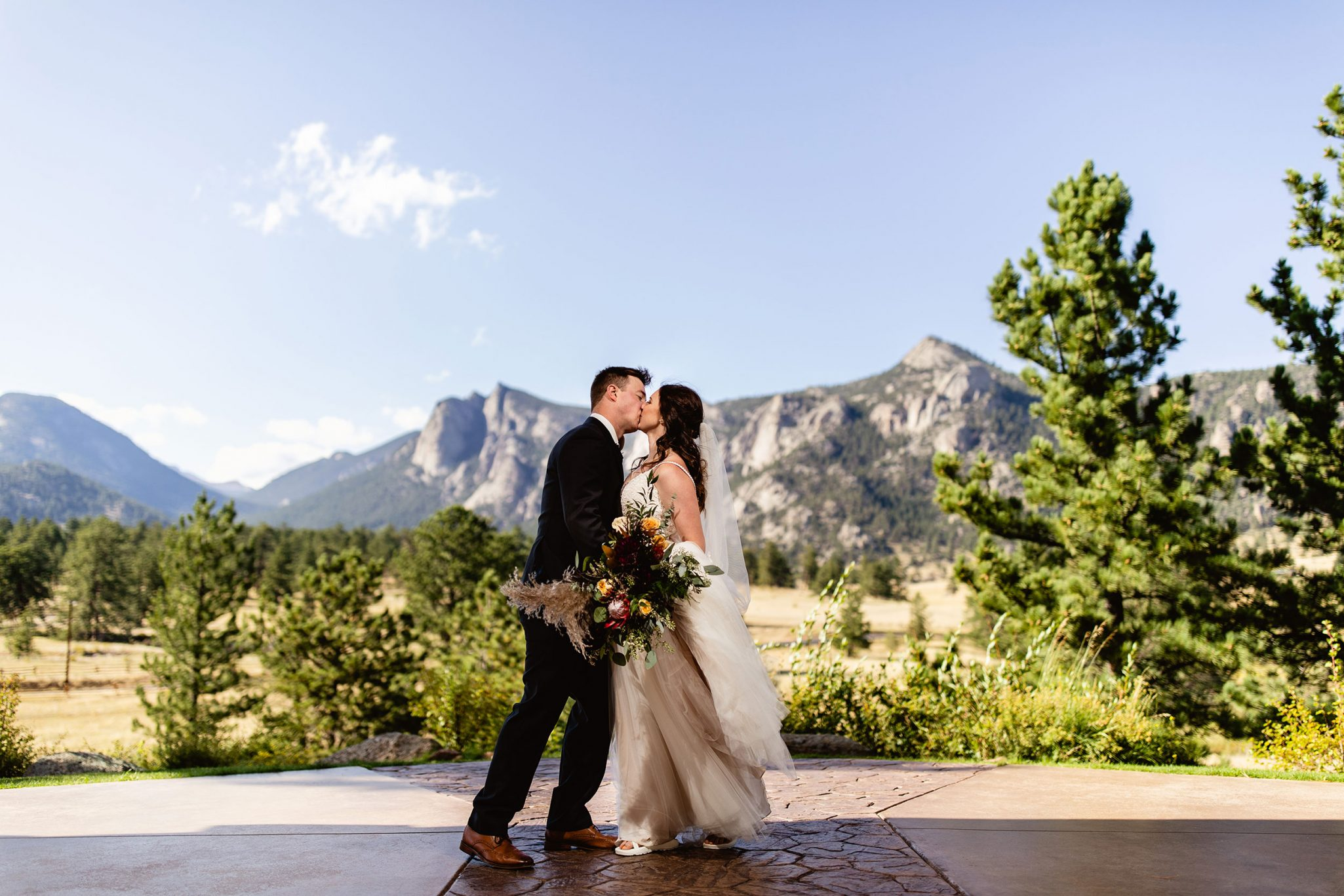 Wedding Kiss in the Mountains