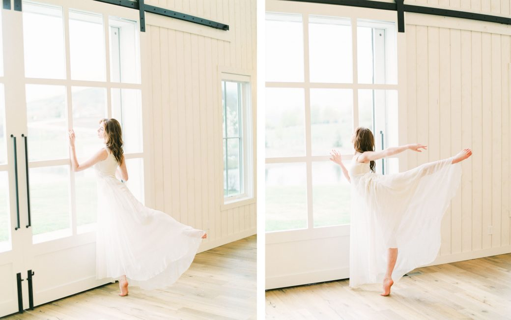 Ballerina bride in Utah