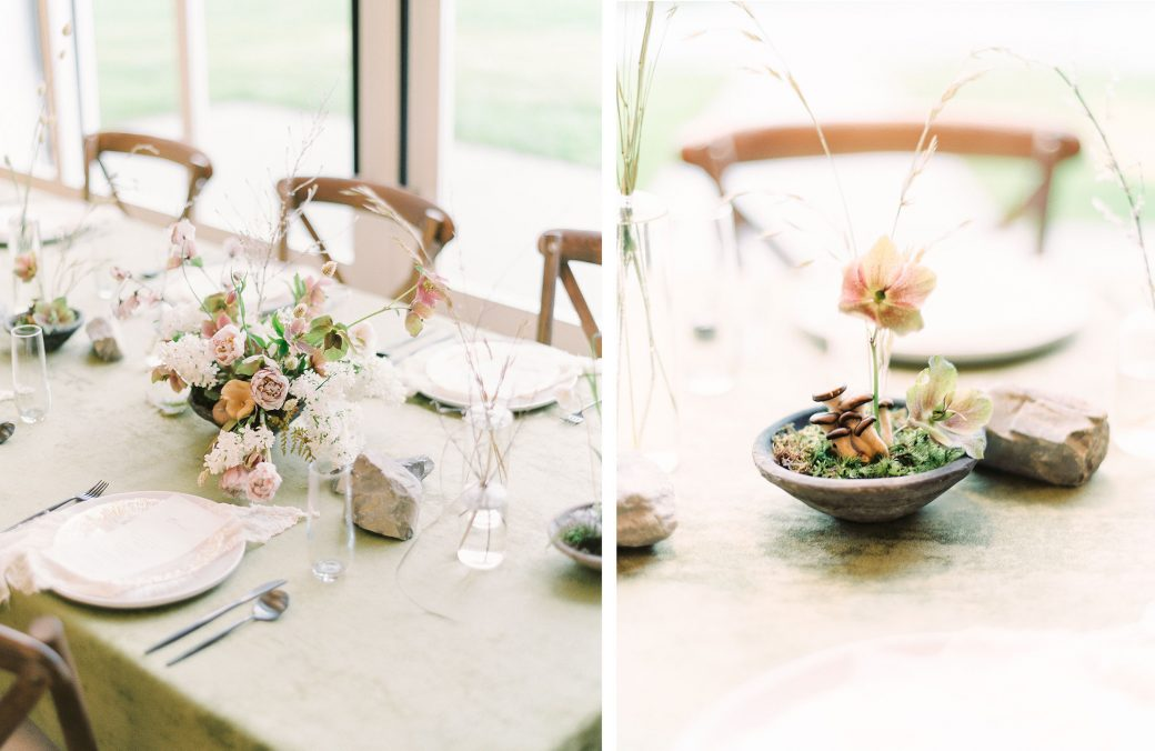 Earthy Wedding tablescape