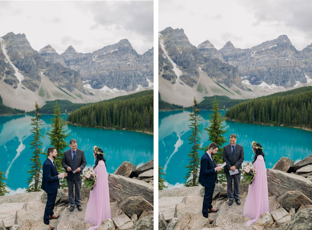 Wedding Ceremony at Moraine Lake