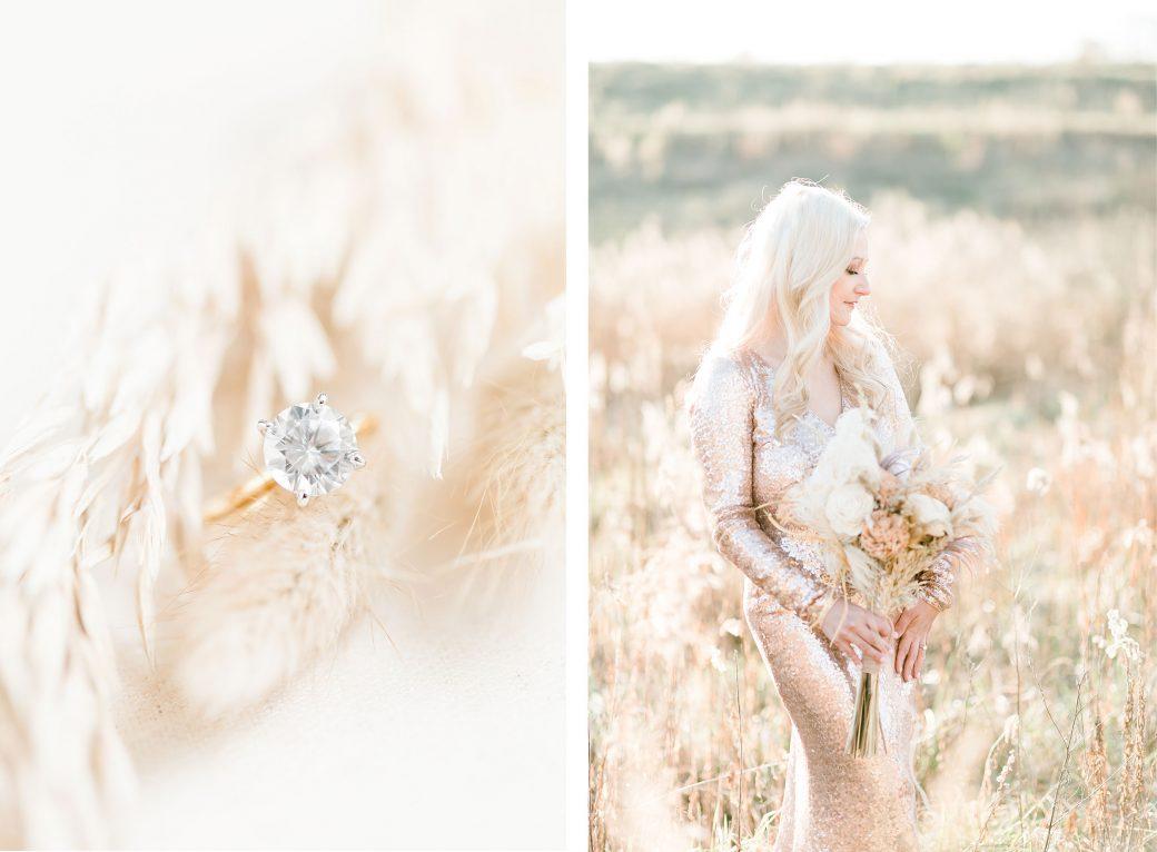 Rose gold & champagne wedding color palette