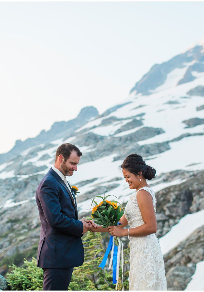 An Intimate Sunrise Ceremony on a Mountaintop in Canada